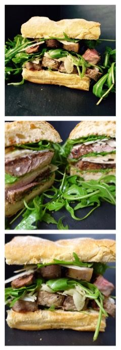Top Sirloin Steak Sandwich Recipe with Arugula #steaksandwich #steakrecipes #sandwichrecipes