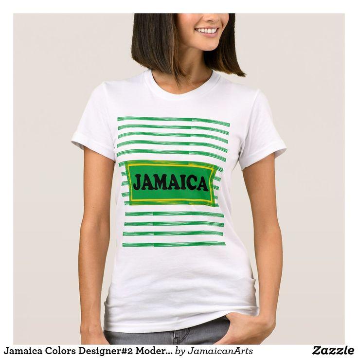Jamaica Colors Designer#2 Modern Wave T-Shirthttps://www.zazzle.com/jamaicanarts?rf=238136051362953437