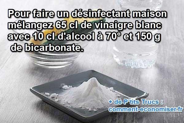 Vous rêvez d'un produit désinfectant naturel à prix choc qui serait efficace aussi bien sur vos surfaces de cuisine que sur la paume de vos mains ? Le plus économique et le plus simple, c'est de le confectionner vous-même. Voici comment faire pour fabriquer votre désinfectant facilement et rapidement.  Découvrez l'astuce ici : http://www.comment-economiser.fr/desinfectant-multi-usages-prix-choc.html?utm_content=buffer015ba&utm_medium=social&utm_source=pinterest.com&utm_campaign=buffer