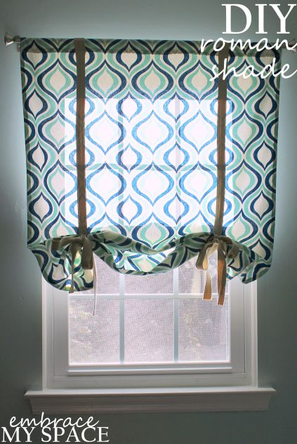 Embrace My Space Diy Roman Shade Crafts Pinterest