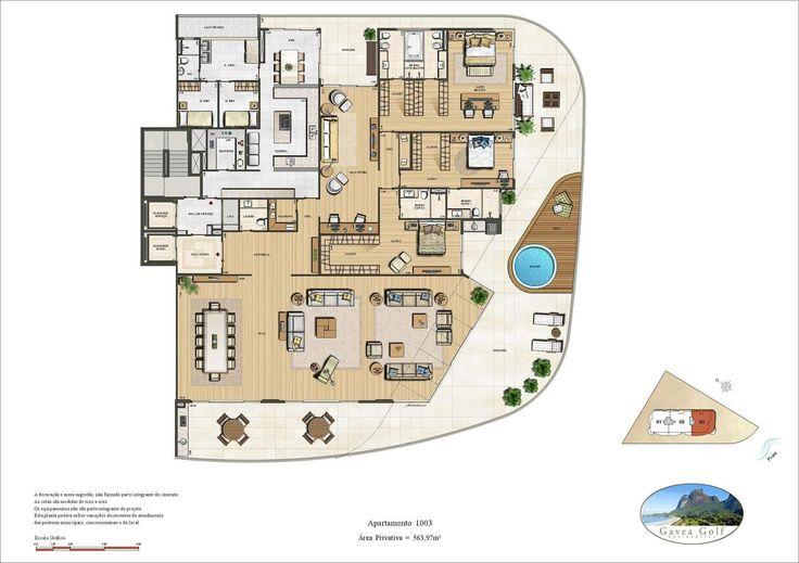Gávea Green Residencial - Penthouse 563m² - São Conrado - Rio de Janeiro - Brascan/Brookfield