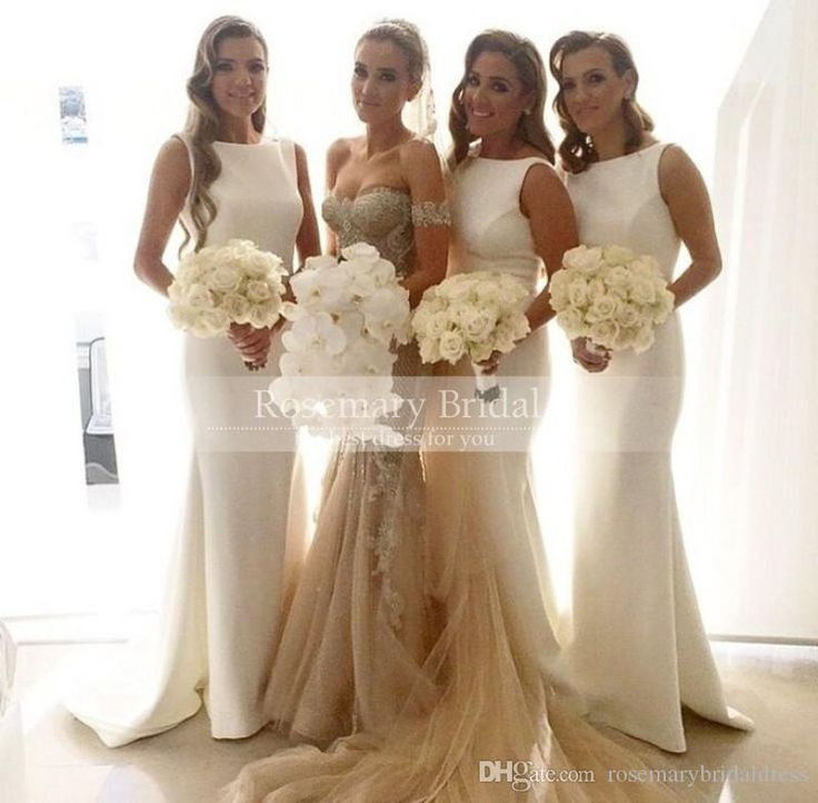 Column Jewel Satin Long Formal Garden Bridesmaid Dresses Custom Made Discount Bridesmaid Gown 2016 Wedding Guest Dress Online with $72.26/Piece on Rosemarybridaldress's Store | DHgate.com