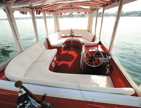 Duffy cat 16 electric pontoon boat the green pontoon for Yacht interior design decoration