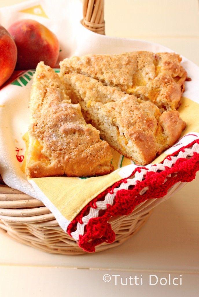 Brown Butter-Peach Scones @Laura | Tutti Dolci