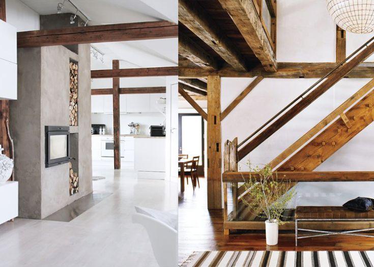 25 beste idee n over plafonds met houten balken op pinterest - Houten balkenplafond ...