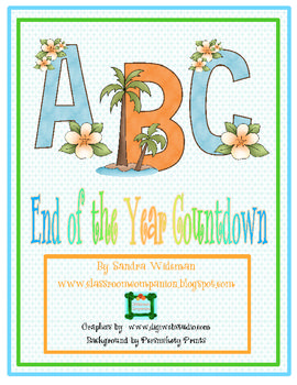 Looking for a fun way to end the school year and keep the students and teacher motivated. Here is an ABC Year End Countdown of simple activities fo...