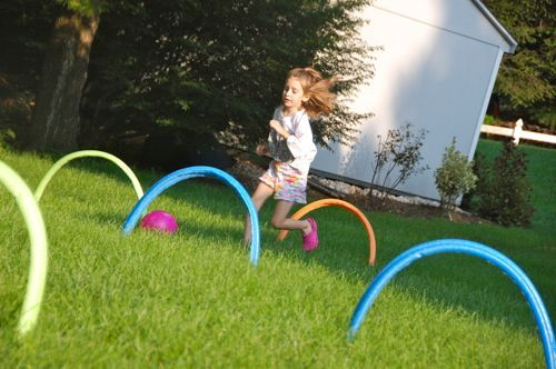 Kickin 39 It Croquet Style Backyard Obstacle Course Backyards And For Kids