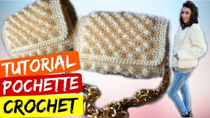 Tutorial pochette punto nocciolina uncinetto | Crochet bag || Katy Handmade