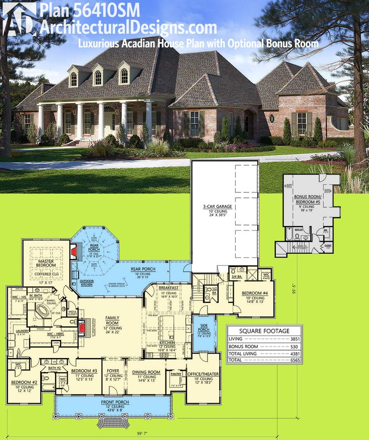 Architectural Designs House Plan 56410SM Is A French Country / Acadian  Beauty. It Gives You