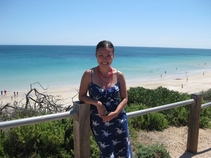 willunga beach with Adelaide's celebrity painter and cook and cookbook author • Masterchef runner up • Poh Ling Yeow • Adelaide's markets