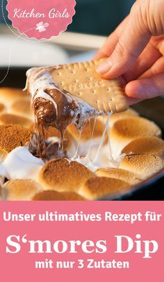 Mit unserem Rezept zeigen wir Euch, wie ihr Smore's Dip ganz leicht mit nur 3 Zutaten im Ofen herstellen könnt.