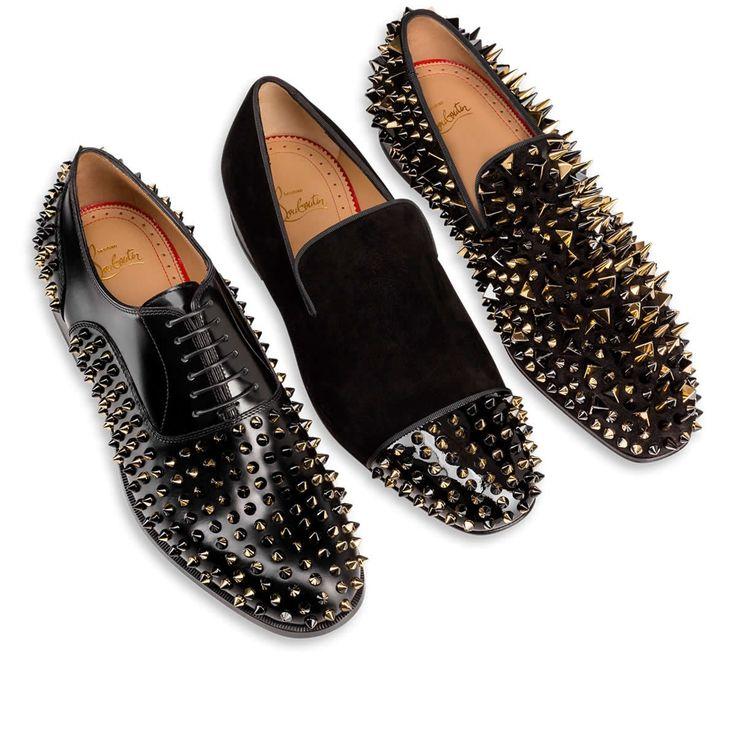 Dandy Pik Pik Black Veau Velours - Men Shoes - Christian Louboutin