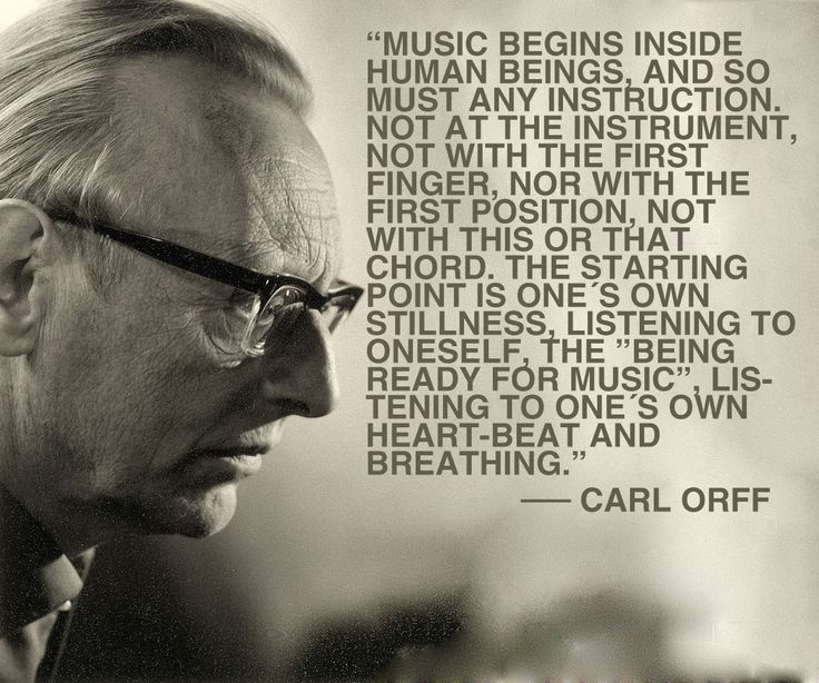 Orff also set the foundation of music education for generations.