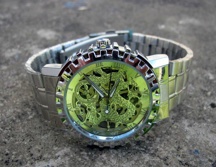 Herrklocka Winner - Silver Dragon #winner #skeleton #armbandsur #klocka #klockor #herrklocka #herrklockor #runns #watch #watches