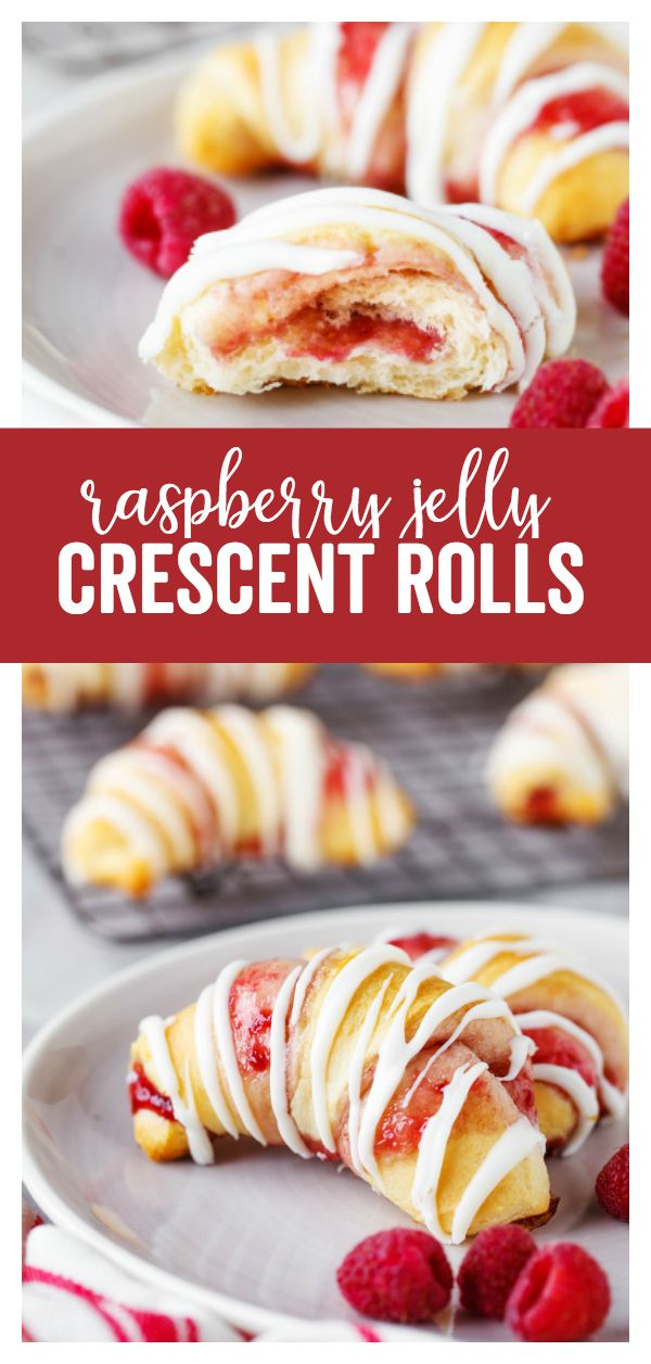 Raspberry Crescent Rolls: a delicious sweet dessert that is quick to prepare and…
