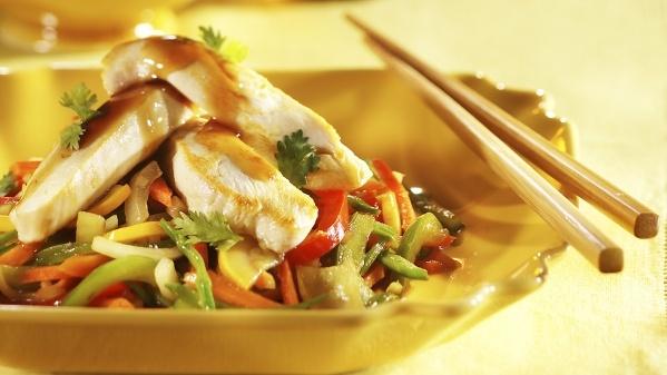 Sauté de poulet teriyaki à lérable | Teriyaki Chicken Stir-fry with Maple Syrup