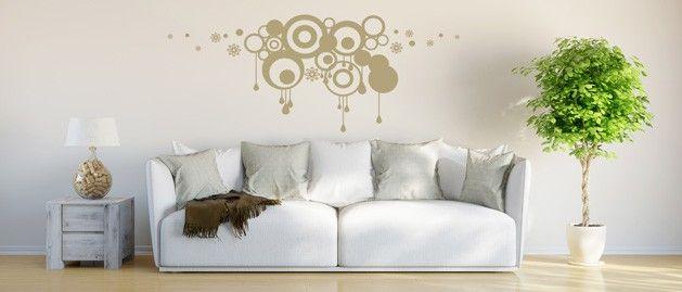 Shluk kruhů (1081) / Samolepky na zeď, stěnu a nábytek