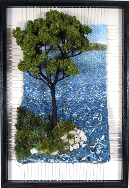 Dimensional Weaving - Martina Celerin 3D fiber art: And the leaves keep falling.