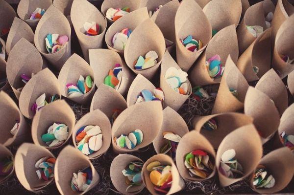 paper confetti cones