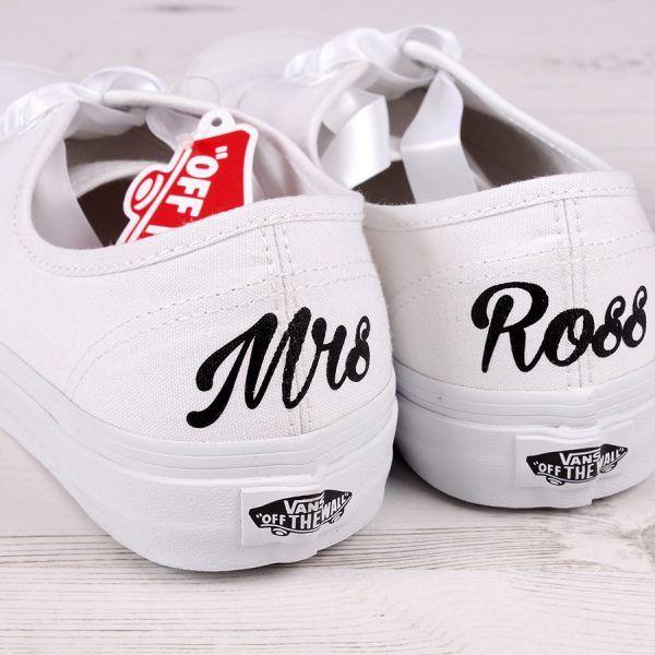 Customised Mrs Bride Vans Shoes
