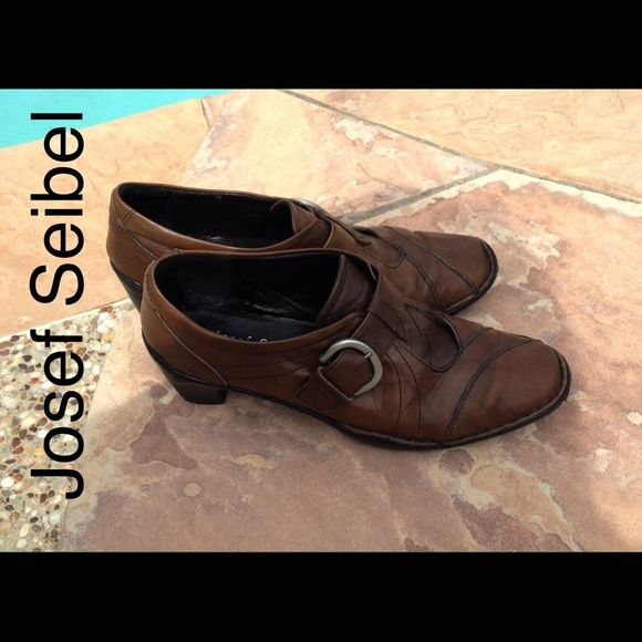 Josef Seibel Shoes Genuine Leather These are on my top 5 of all shoes for comfort and style. They look great with certain dresses or shirts and jeans! They are very durable and in great condition. Made in Bulgaria. Three inch heels. You will LOVE these shoes Josef Seibel Shoes Heels