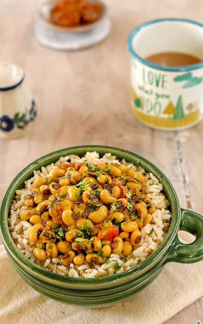 Black Eyed Pea Curry With Spinach From Indian Instant Pot Cookbook