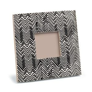 Sloane 3 x 3 Picture Frame. Chevron picture frame. stripe picture frame. black and white picture frame. Holiday gift ideas under 100 Christmas gifts