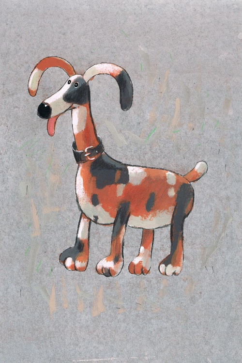 Titel: thema- Dieren rond de woning - Hond  Kunstenaar: Aleksandr Vakhrameev  Afm.: 20 br. x 28 cm hg.   Techniek: waterverf op papier. Uit de collectie Postersquare