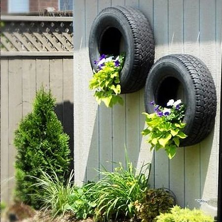 More Ideas For Using Old Tyres In The Garden For Plants