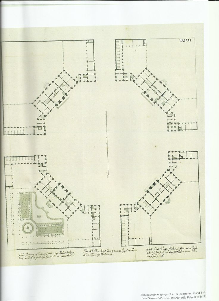 Original Plan Of The Four Mansions That Make Up