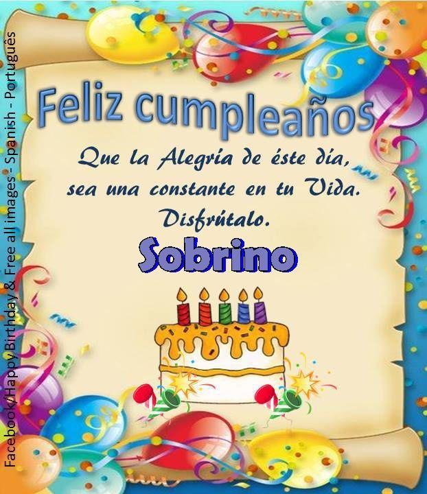 Sobrino┌iiiii┐Felíz Cumpleaños ┌iiiii┐