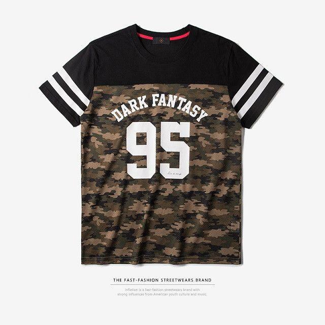 New Arrivals Mens O-Neck Patchwork Mesh Streetwear Tshirt Hip Hop Clothing Men Tops Tee