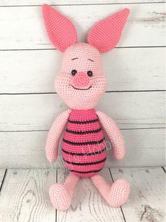 Ravelry: #haken, gratis patroon (Engels), varken, knorretje, knuffel, speelgoed, #haakpatroon, #crochet, free pattern, Piglet, pig, stuffed toy