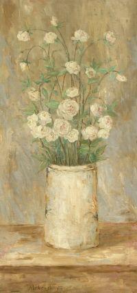 Tadeusz Makowski: Kwiaty w białym wazonie, 1920
