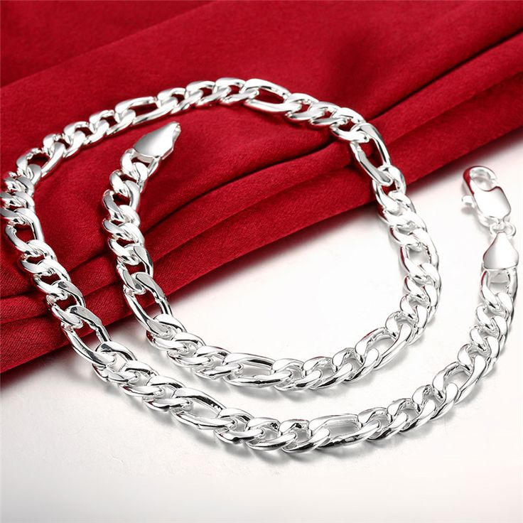 Горячие мужские Серебро Фигаро цепи ожерелье ширина 10 мм * 24 дюйм(ов) ювелирные изделия прохладный подарок на день рождения супер популярный рок звезда стилякупить в магазине Shop1270268 StoreнаAliExpress