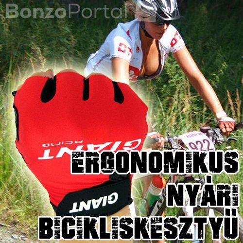Extra kényelmes, ergonomikus nyári biciklis kesztyű