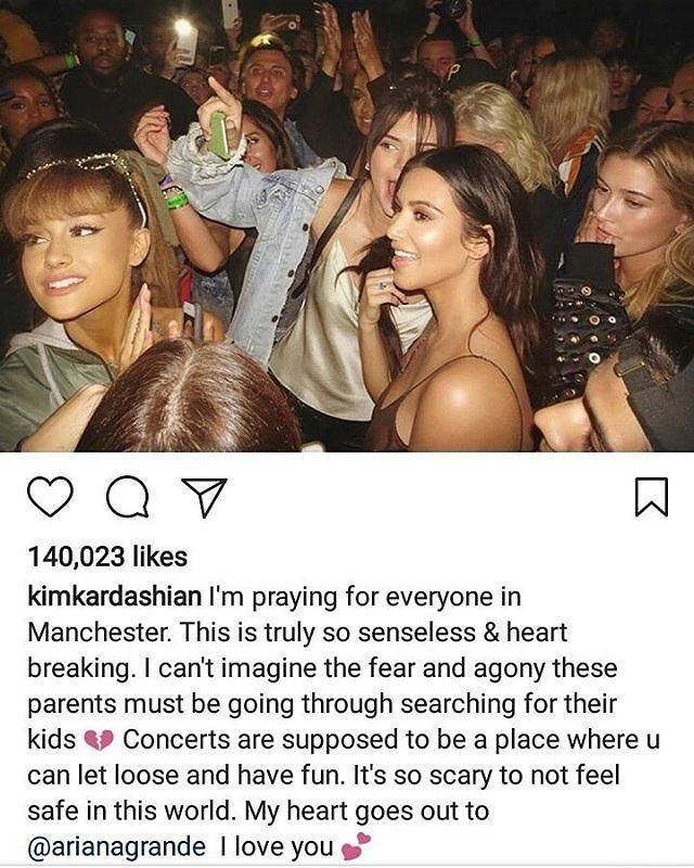 #kimkardashian offers words of condolence in the wake of the #manchesterattack.  #arianagrande #kimk #manchester #suicidebomber #terrorism #terrorist #england #celebs #celebrities #celebrity #heraldentertainment #naija #nigeria #tragedy #tragic http://tipsrazzi.com/ipost/1521239188065743073/?code=BUchvtPD_Dh
