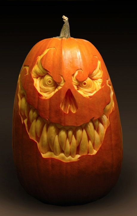 Demented Pumpkin Sculpture/Carving by Ray Villafane