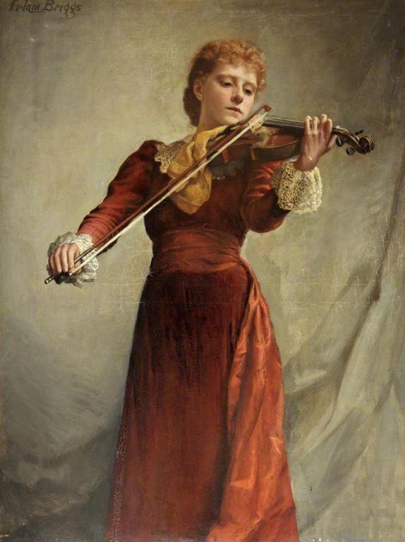 The violinist - Emma Irlam Briggs (1890-1950)