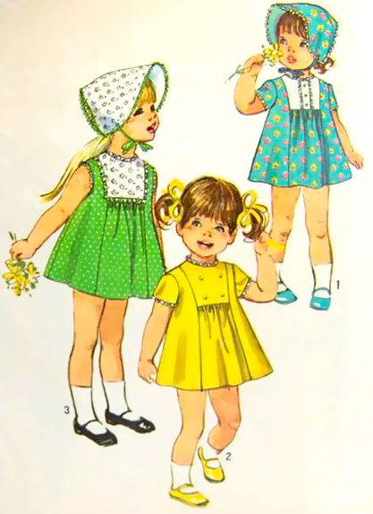 60s Vintage Sewing Pattern Toddlers Pajamas with by stumbleupon, $5.95