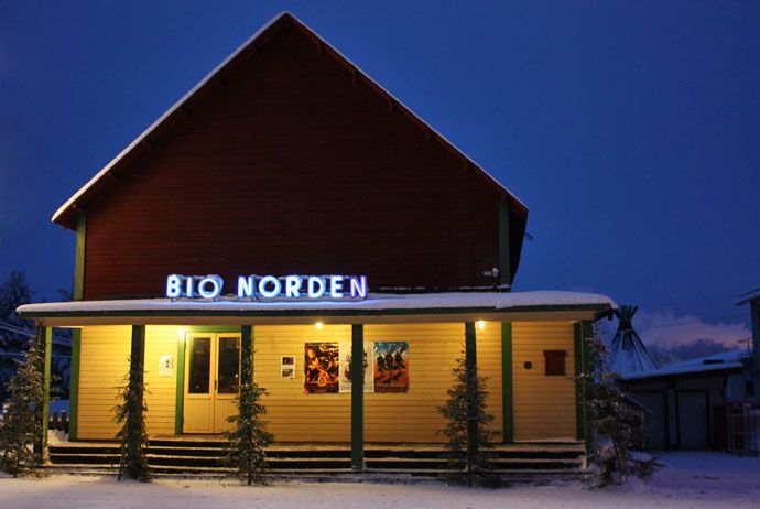 Built in 1935, Bio Norden was Jokkmokk's first proper cinema. These days it's rarely ever in use, but it remains one of the prettiest buildings in the town.