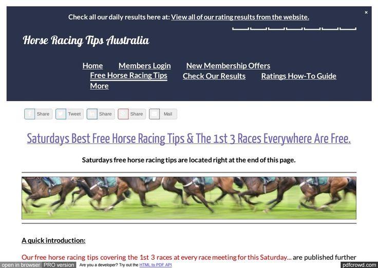 Saturdays January 21st Free Horse Racing Tips