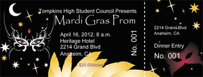make mardi gras prom tickets