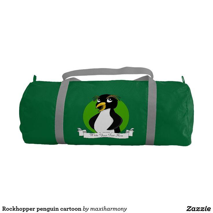 Rockhopper penguin cartoon gym duffel bag
