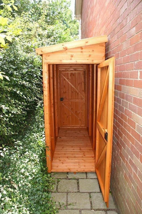 A Small Wooden Cabinet for Garden Essentials #shedideas