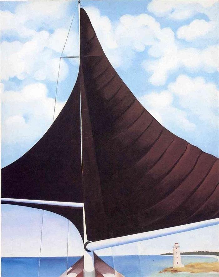 Pintura, Georgia O'Keefe - Vela Marrom, Asa Sobre Asa, Nassau