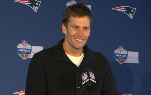 Patriots quarterback Tom Brady addresses the media following New England's game against the Oakland Raiders on Sunday, November 19, 2017.
