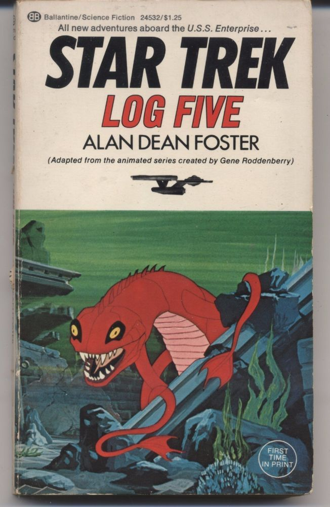 Star Trek Log Five  by Alan Dean Foster  1st Printing August 1975 Paperback