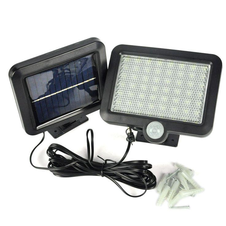 56 LEDs Solar Light Outdoor LED Solar Powered Garden Lights PIR Body Motion Sensor Solar Floodlights Spotlights Lamp bulbs