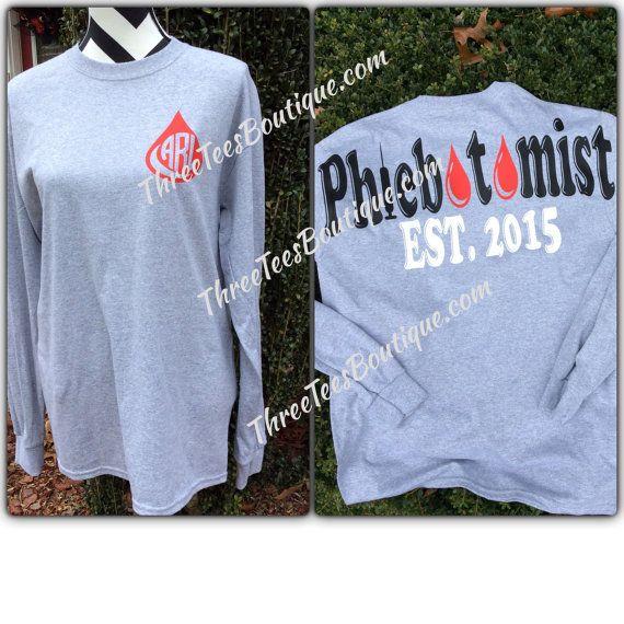 Hey, I found this really awesome Etsy listing at https://www.etsy.com/listing/228225954/monogram-phlebotomist-t-shirt-monogram